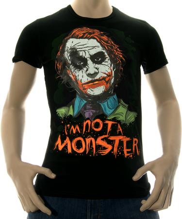 На фото изображено Мужская футболка I am not a monster серая