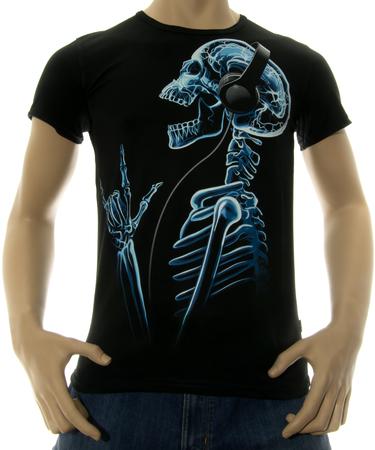 На фото изображено Мужская футболка X-Skeleton черная