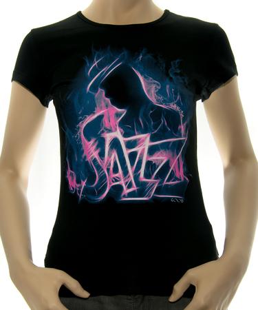На фото изображено Женская футболка Jazz черная