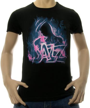 На фото изображено Мужская футболка Jazz черная