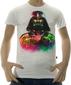 Мужская футболка Fluoro Darth Vader белая