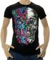 Мужская футболка Череп Двуликий черная