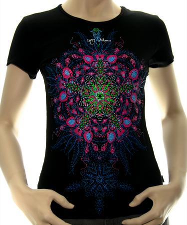 На фото изображено Женская футболка Biorganica черная
