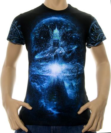 На фото изображено Мужская футболка Cosmogony CyberGorgon черная
