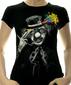 Женская футболка Free your mind черная