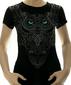 Женская футболка Сова черная