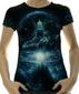 Женская футболка Cosmogony CyberGorgon черная