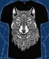 Мужская футболка Волк-Тотем черная