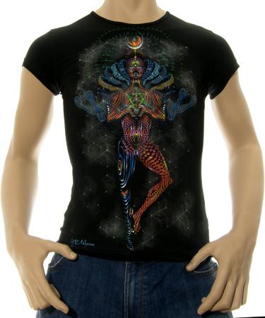 На фото изображено Мужская футболка Mechanical Lotus черная