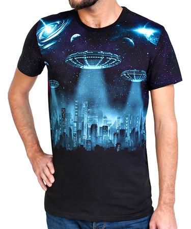 На фото изображено Мужская футболка City of the Future черная