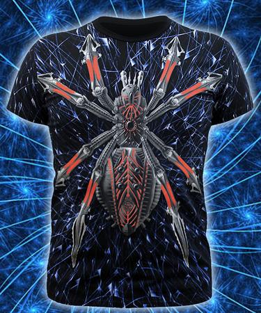 На фото изображено Мужская футболка Cyber Spider черная