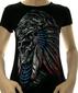 Женская футболка Шаман черная