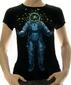 Женская футболка Space inside черная