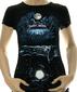 Женская футболка Party island черная
