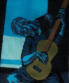 На фото изображено «Старый гитарист» - Пикассо