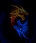 Женская футболка Драконы Инь и Янь черная