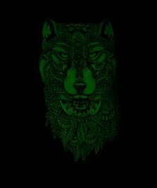 На фото изображено Волк-Тотем