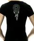 Женская футболка Волк-Тотем черная