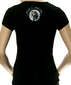 Женская футболка Full moon черная