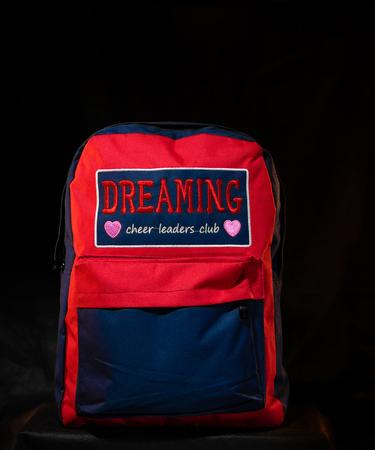 На фото изображено Рюкзак с надписью «Мечтай»