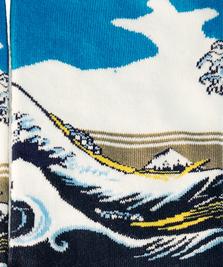 На фото изображено Гравюра «Большая волна в Канагаве» - Кацусика Хокусай
