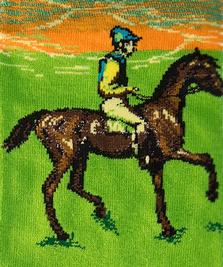 На фото изображено «Скаковые лошади» - Эдгар Дега