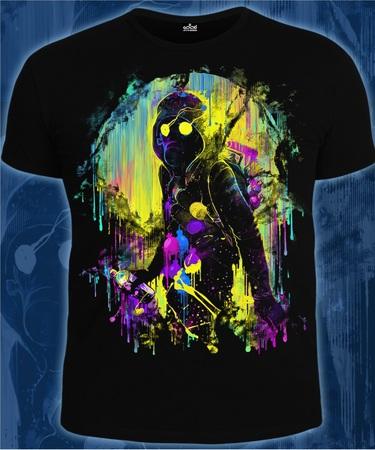 На фото изображено Мужская футболка Уличный художник черная