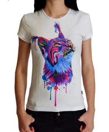 На фото изображено Женская футболка Cats Tribe белая