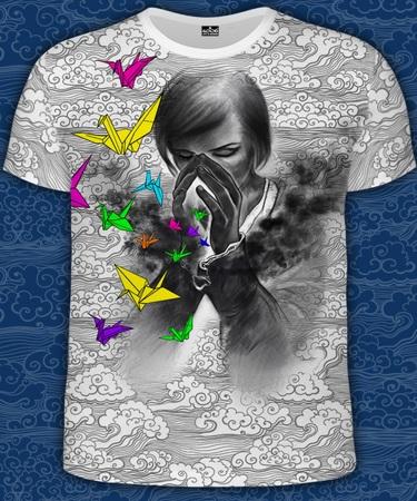На фото изображено Мужская футболка Mistery of Dreams белая