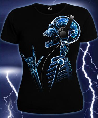 На фото изображено Женская футболка X-Skeleton черная