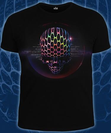На фото изображено Мужская футболка Wishi Alien черная